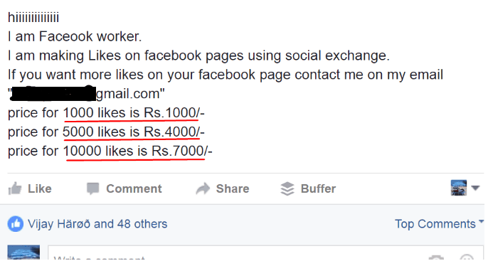 earn money by selling likes on facebook