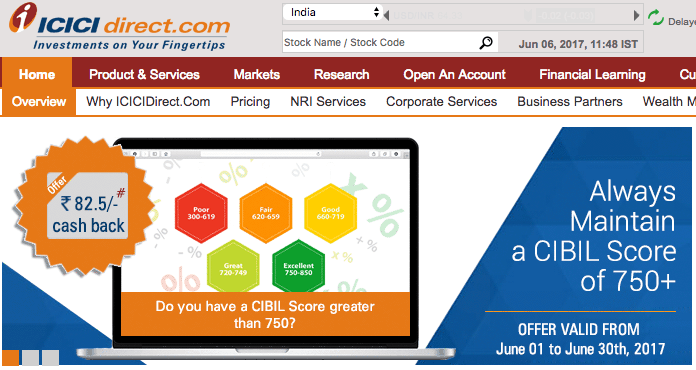 Icici direct brokerage charges for options
