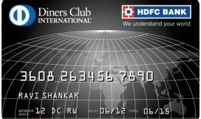 HDFC Bank Diners Club Black Credit Card