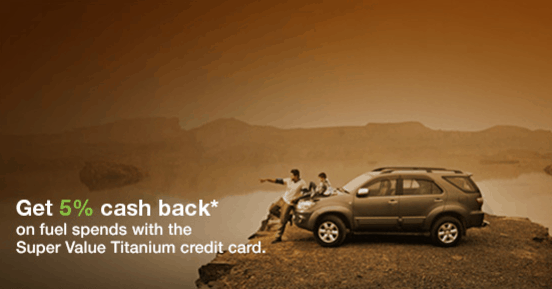 cashback on fuel with standard chartered super value titanium credit card