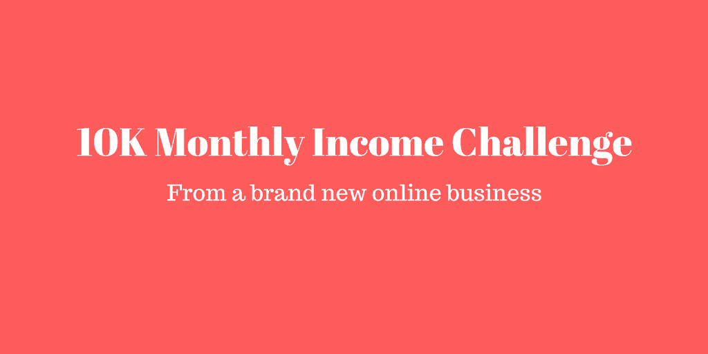 10K monthly passive income challenge announcement