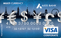 Axis Bank Multi Currency Forex Card