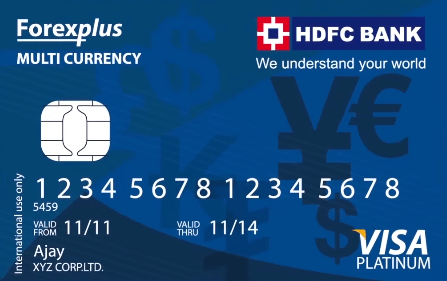 HDFC Multi Currency Platinum Forex Card