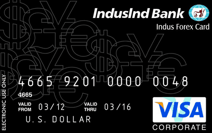 IndusInd Bank Multi currency Forex card