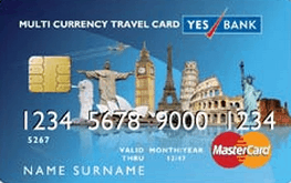 Yes Bank Multi Currency Travel Forex Card