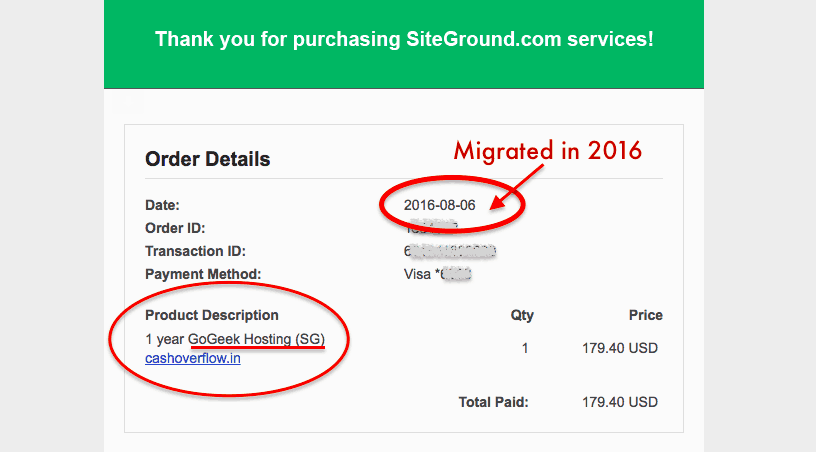 bought siteground in June 2016
