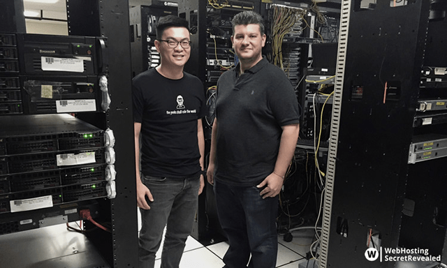 I visited Interserver HQ and had great pleasure meeting Michael, founder and CEO of Interserver. Photo taken in one of Interserver's data center, August 2016