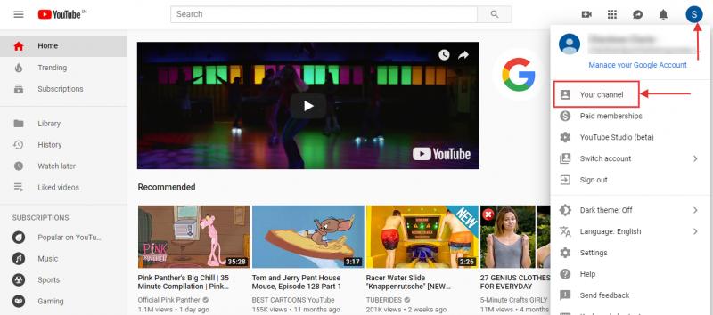 Login YouTube using Google account