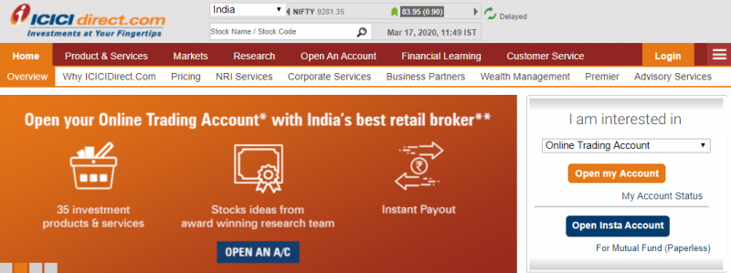 ICICI Direct Demat & Trading Account