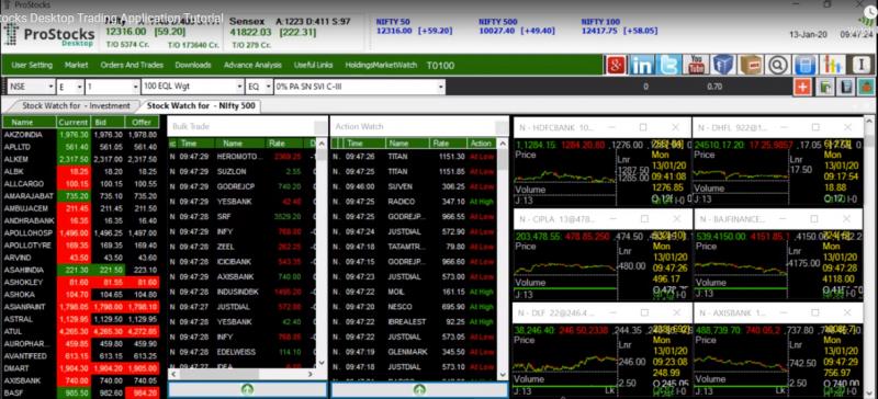 ProStocks Desktop Trading Platform