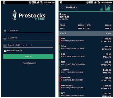 ProStocks Mobile App