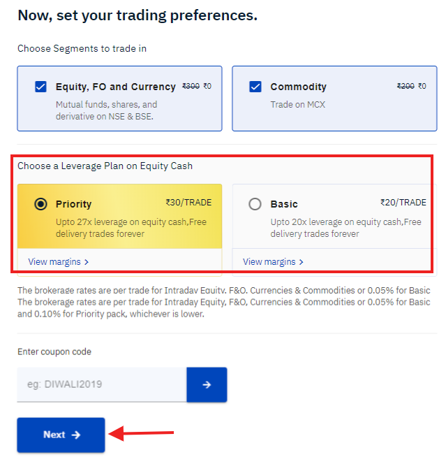 Select Your Trading Preferences