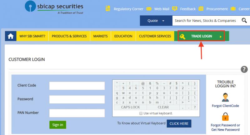 SBISMART Web trading portal