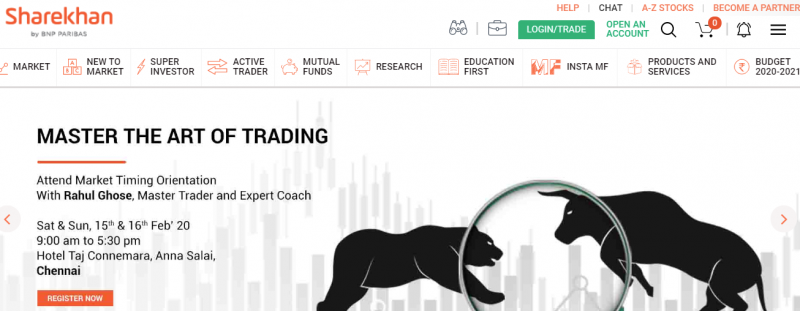 Sharekhan full service stock broker