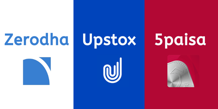 zerodha vs upstox vs 5paisa stock broker comparison