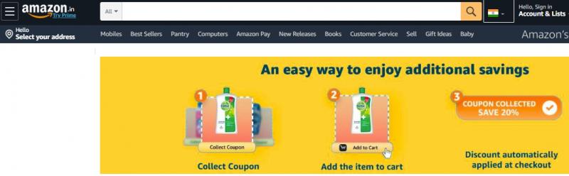 Use Amazon Coupons