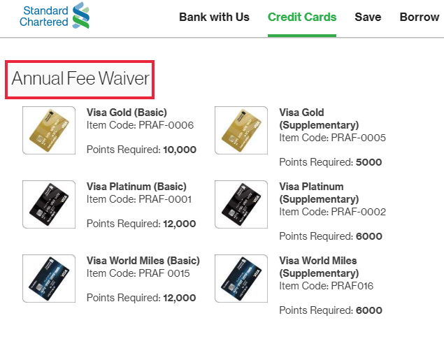 Standard Chartered - Ask For Annual Fees Waiver example