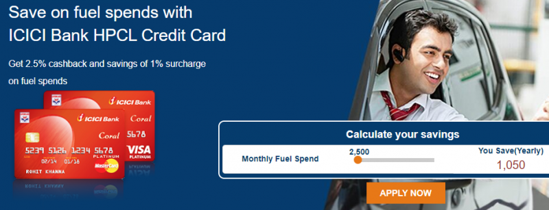 ICICI Bank HPCL - Fuel Credit Cards To Get Cashback On Fuel