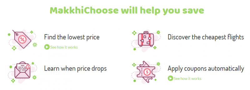 Compare Prices example - Makkhi Choose