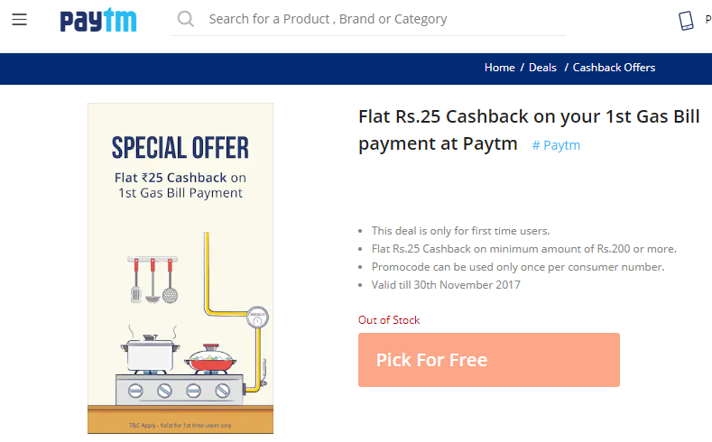 Pay For Gas Using Paytm Wallet Or App