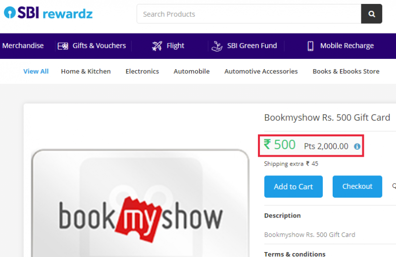 Use Reward Points And Coupon To Buy Movie Tickets