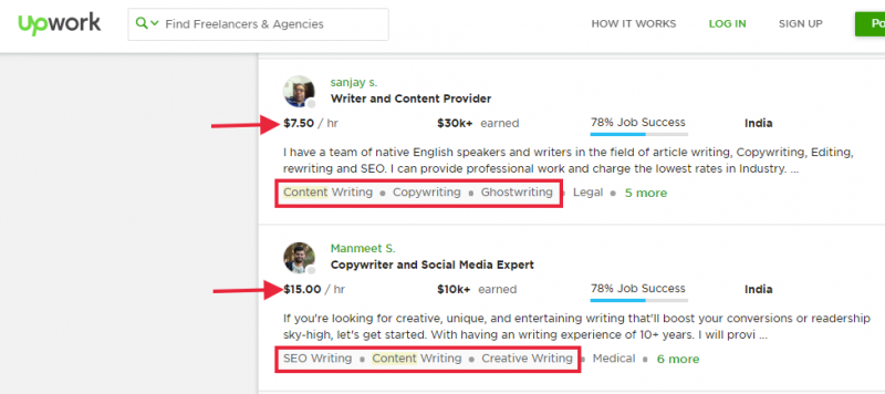 Content Writer Job example
