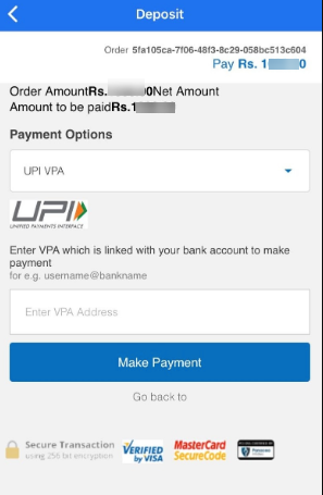 Deposit through UPI