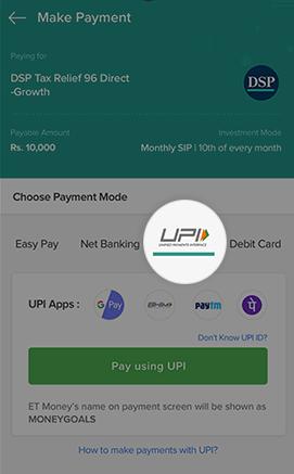 ETMONEY - Payment Options