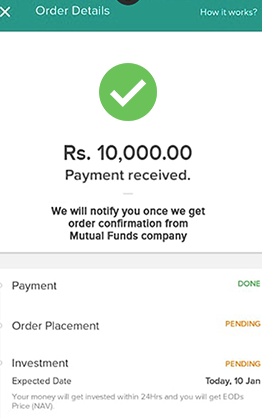 ETMONEY- Payment received