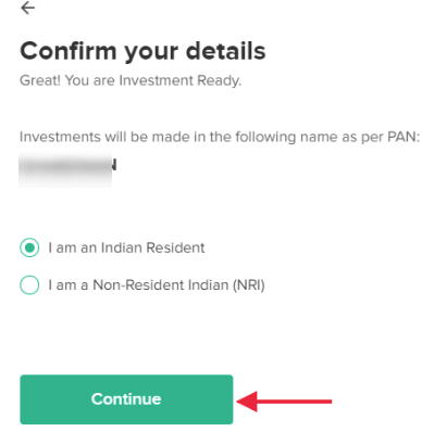 ETMONEY - Confirm your name and residential status as per your PAN