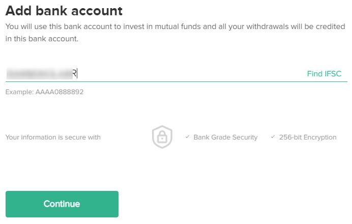ETMONEY - link bank account