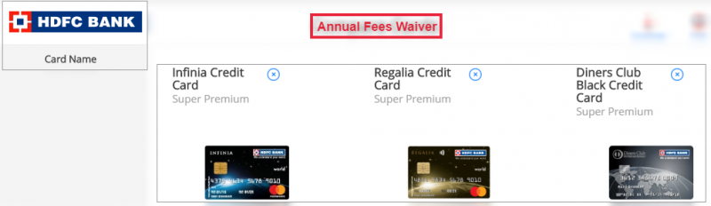 HDFC Credit Card Annual Fee Waiver