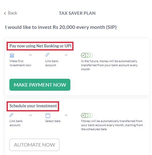 Scripbox- Schedule SIP Payment Details