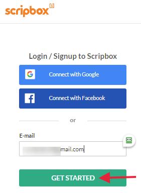 Scripbox - login/signup page