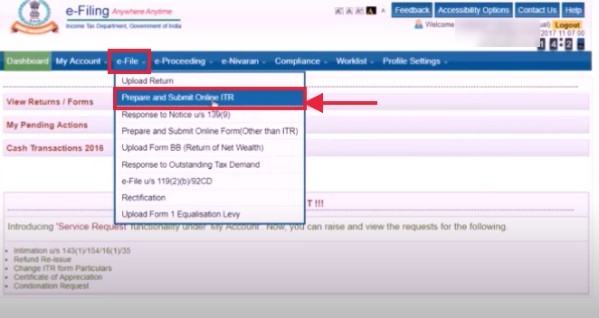 Visit the Income Tax Department's official website
