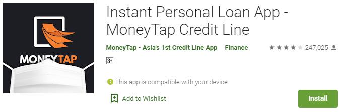 Money Tap Instant Loan App