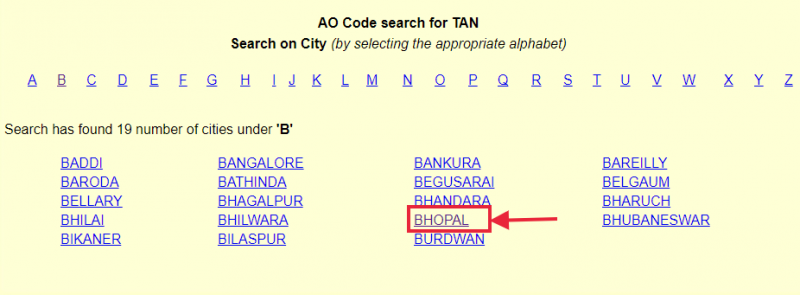 Select your city for knowing AO details