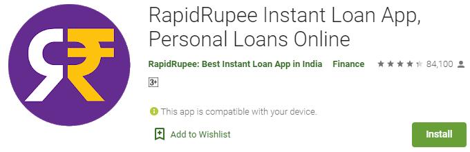 RapidRupee Instant Loan App