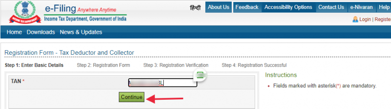 Verify the contact details using OTP