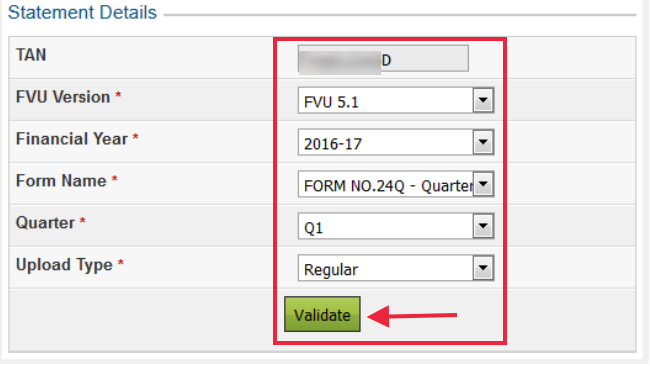 Select the Statement Details