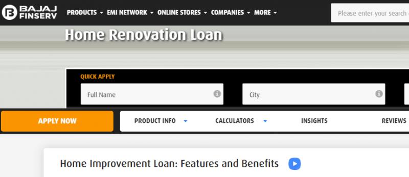 Bajaj Finserv Home Renovation Loan