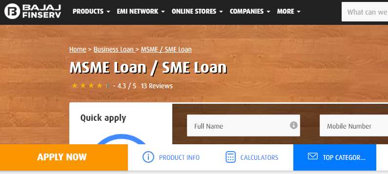 Bajaj Finserv MSME Loan
