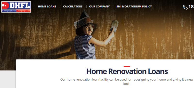 DHFL Home Renovation Loans
