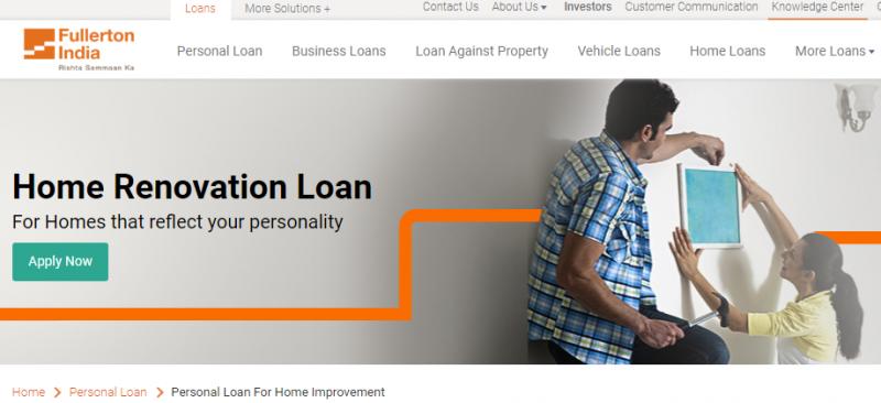 Fullerton India Home Renovation Loan