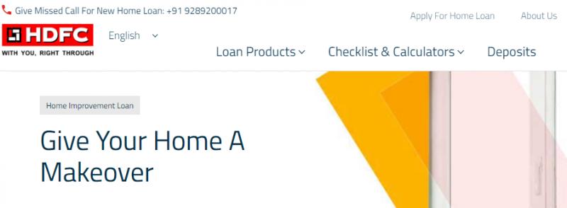 HDFC Home Renovation Loan