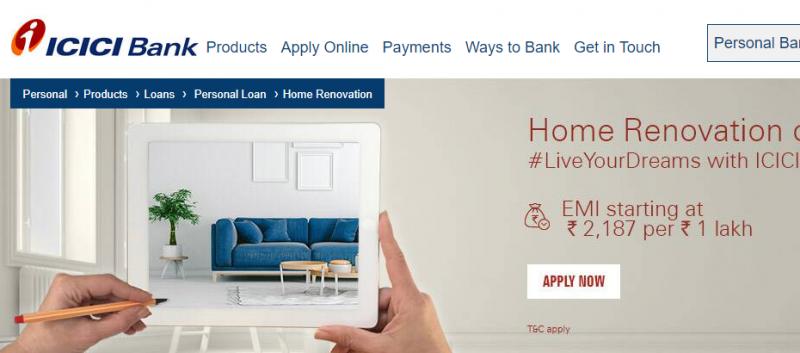 ICICI Home Renovation Loan