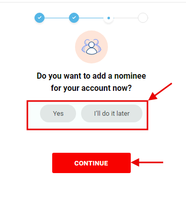 Kotak 811 account opening - add nominee