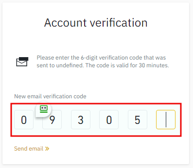 Account verification for Binance account opening