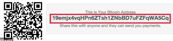 An example of Bitcoin address