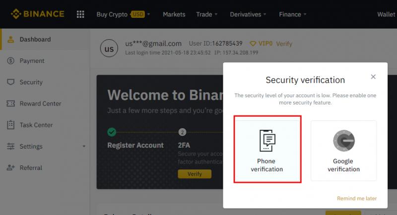 Binance - Complete security verification